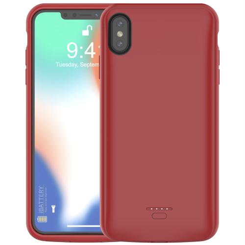 Чехол батарея для iPhone XS Max 5000 mAh red