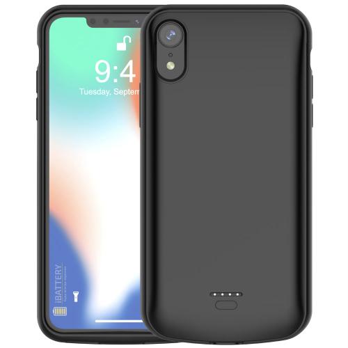 Чехол батарея для iPhone XR 5000 mAh black