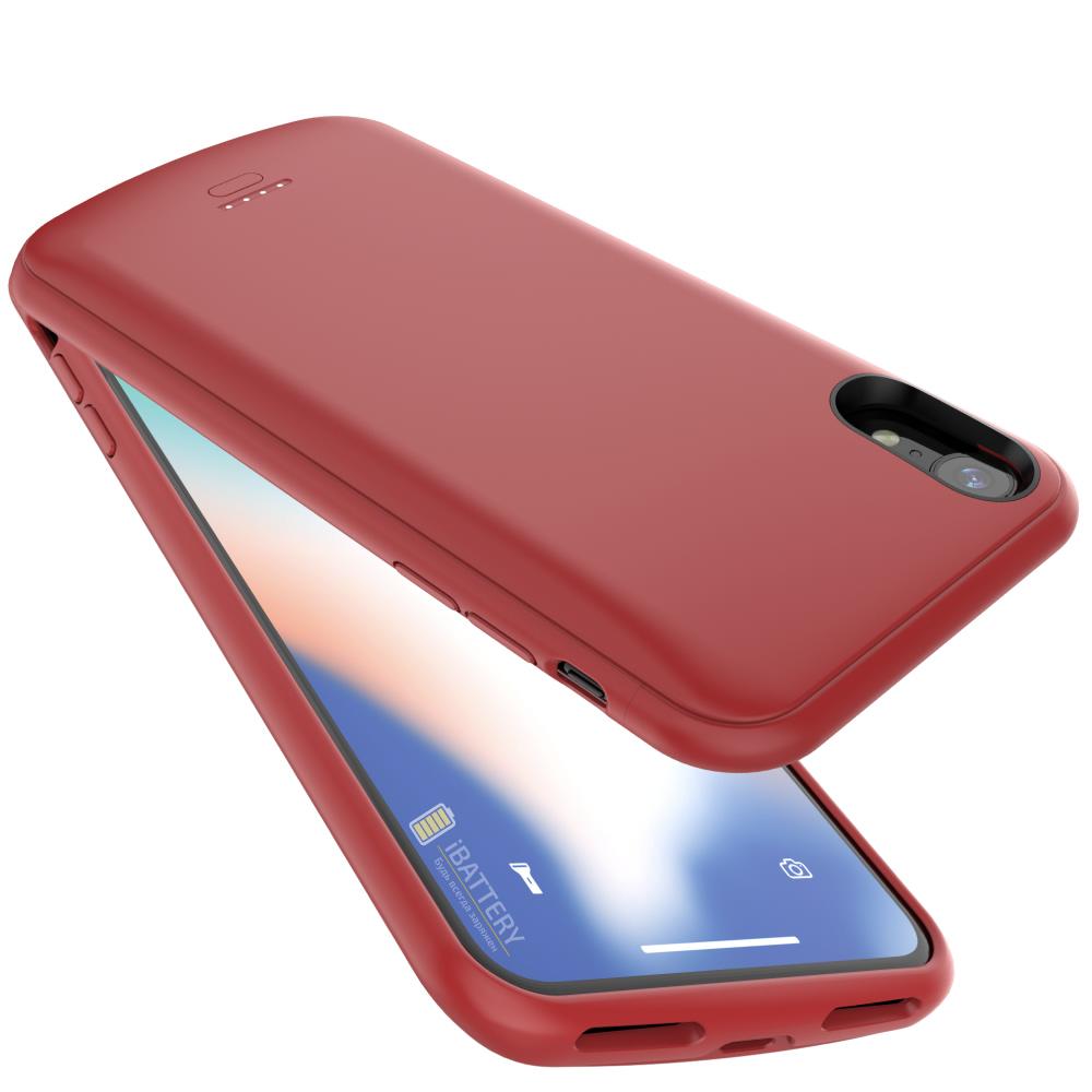 Чехол батарея для iPhone XR 5000 mAh red