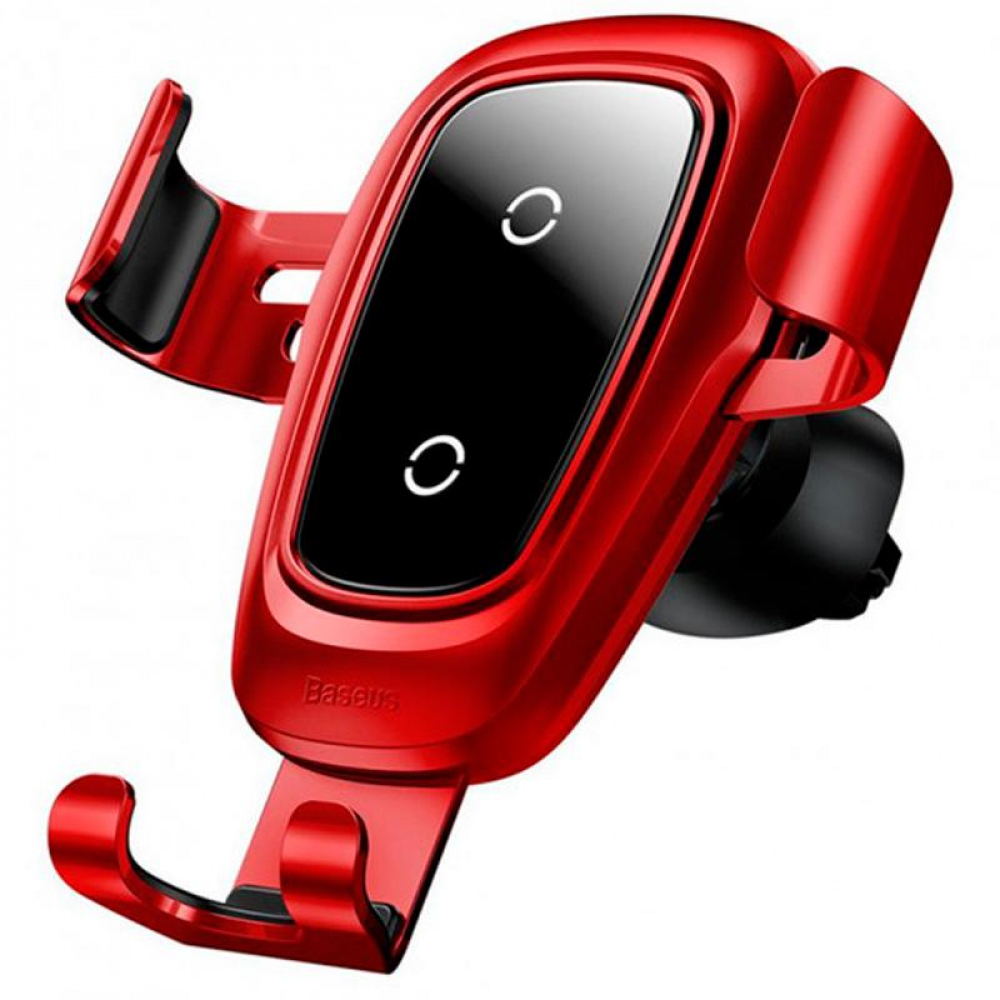 Холдер Baseus Metal Wireless Fast Charger Gravity Car Mount (Air Outlet Type) (WXYL-B09) Red