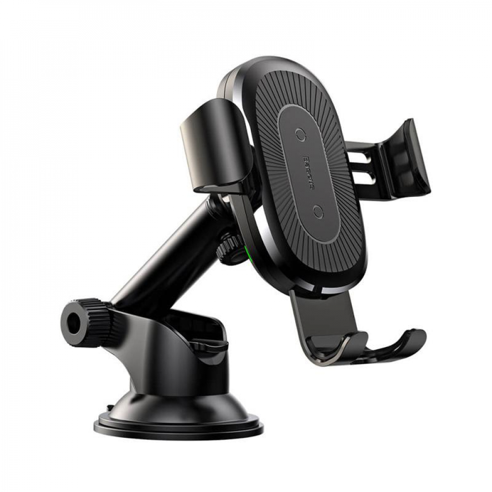 Холдер Baseus Wireless Fast Charger Gravity Car Mount (osculum type) (WXYL-A01) Black