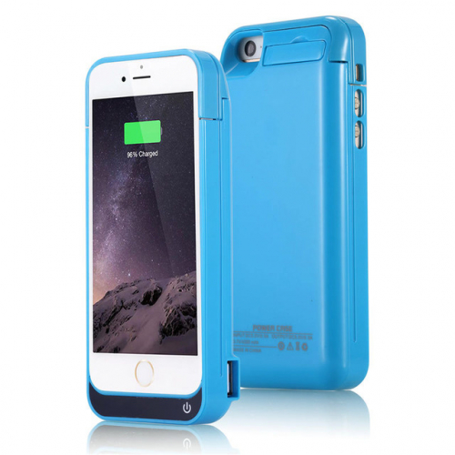 Чехол аккумулятор для iPhone 5/5C/5s/SE 4200 mAh blue iBattery
