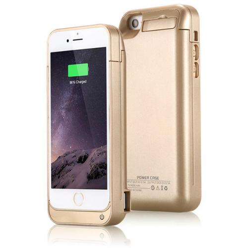 Чехол аккумулятор для iPhone 5/5C/5s/SE 4200 mAh gold iBattery