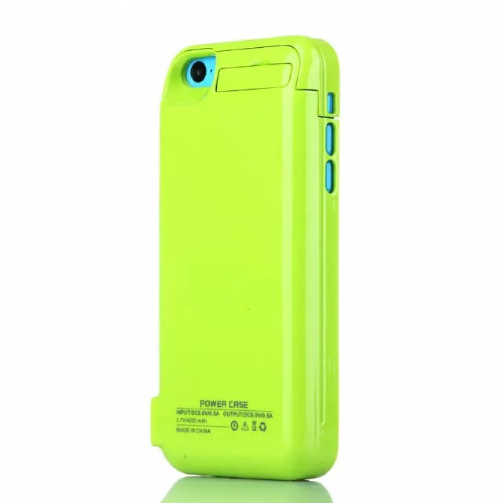 Чехол аккумулятор для iPhone 5/5C/5s/SE 4200 mAh green iBattery