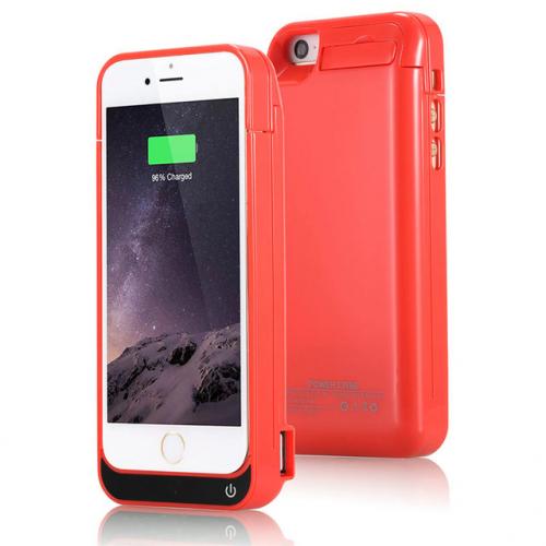 Чехол аккумулятор для iPhone 5/5C/5s/SE 4200 mAh red iBattery