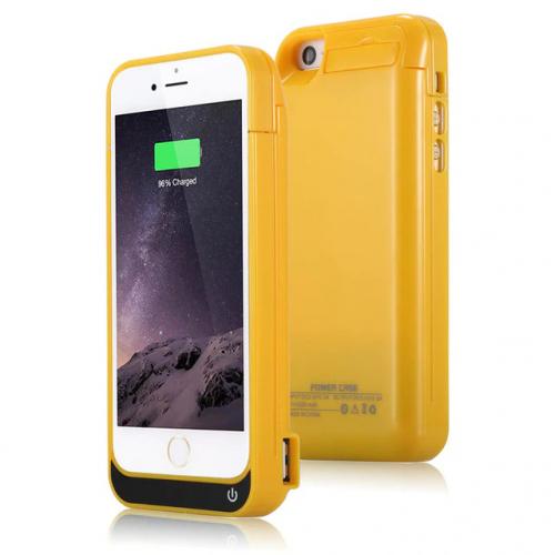 Чехол аккумулятор для iPhone 5/5C/5s/SE 4200 mAh yellow iBattery