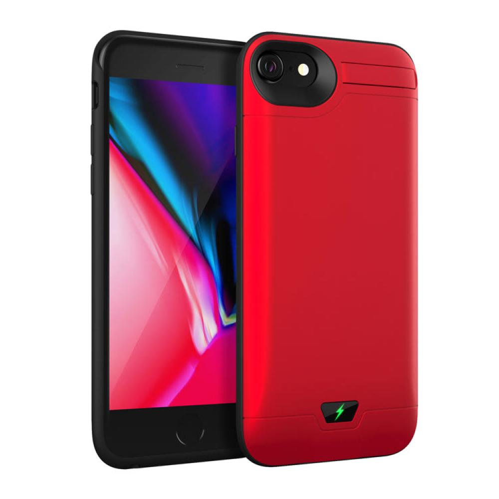 Чехол батарея для iPhone 6/6s/7/8 5000 mAh red