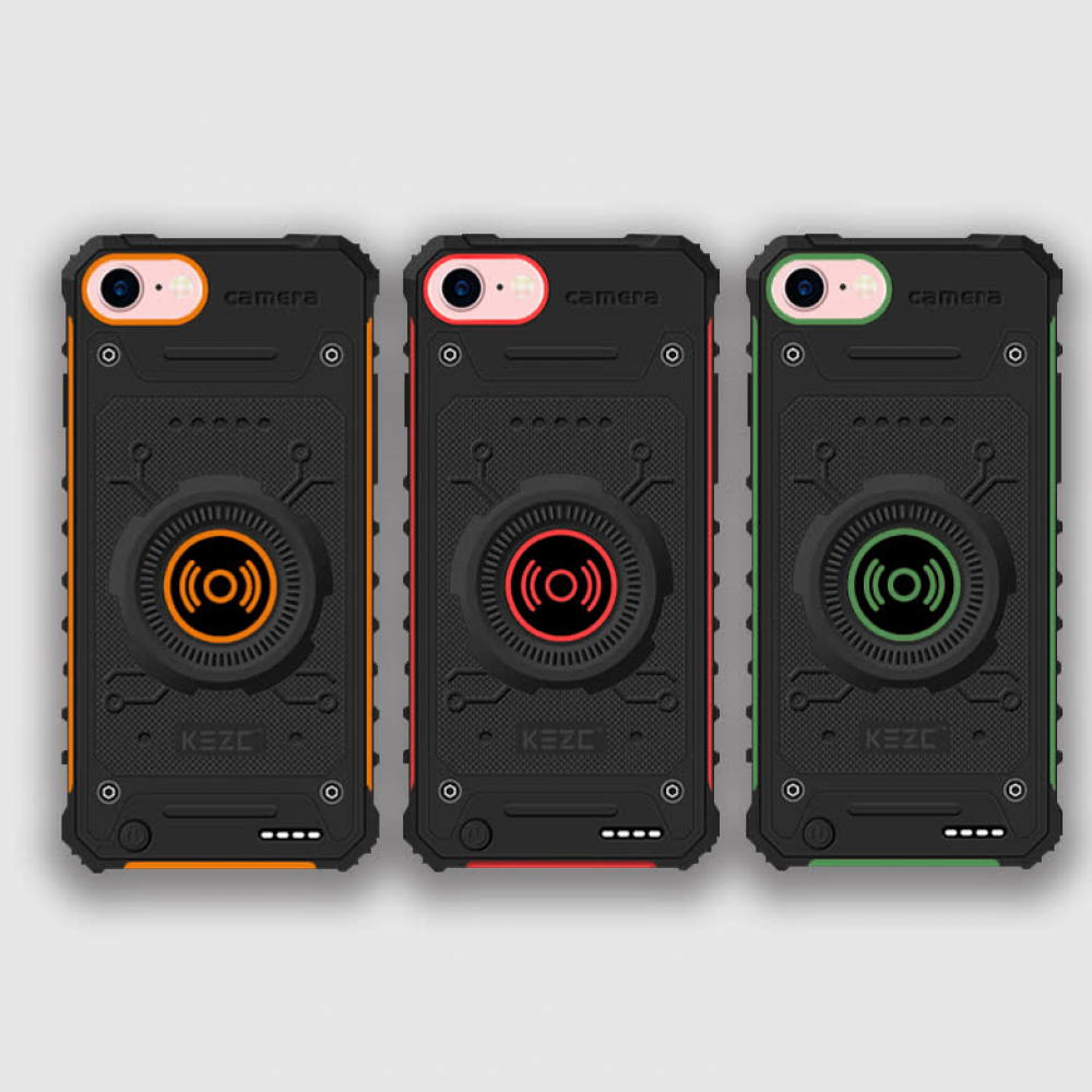Чехол зарядка для iPhone 6/6s/7/8 противоударный Orange 3100 mAh