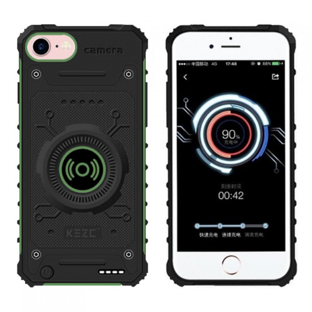 Чехол зарядка для iPhone 6/6s/7/8 противоударный Green 3100 mAh
