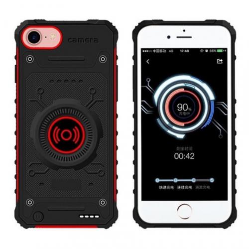 Чехол зарядка для iPhone 6/6s/7/8 противоударный Red 3100 mAh