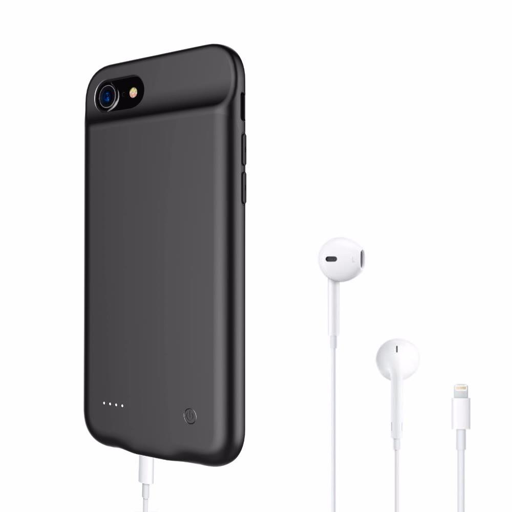 Чехол аккумулятор для iPhone 6+/6s+/7+/8 Plus 4000 mAh black