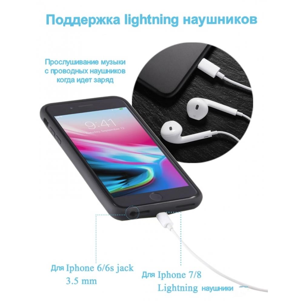 Чехол аккумулятор для iPhone 6/6s/7/8 iBattery 3000 mAh black