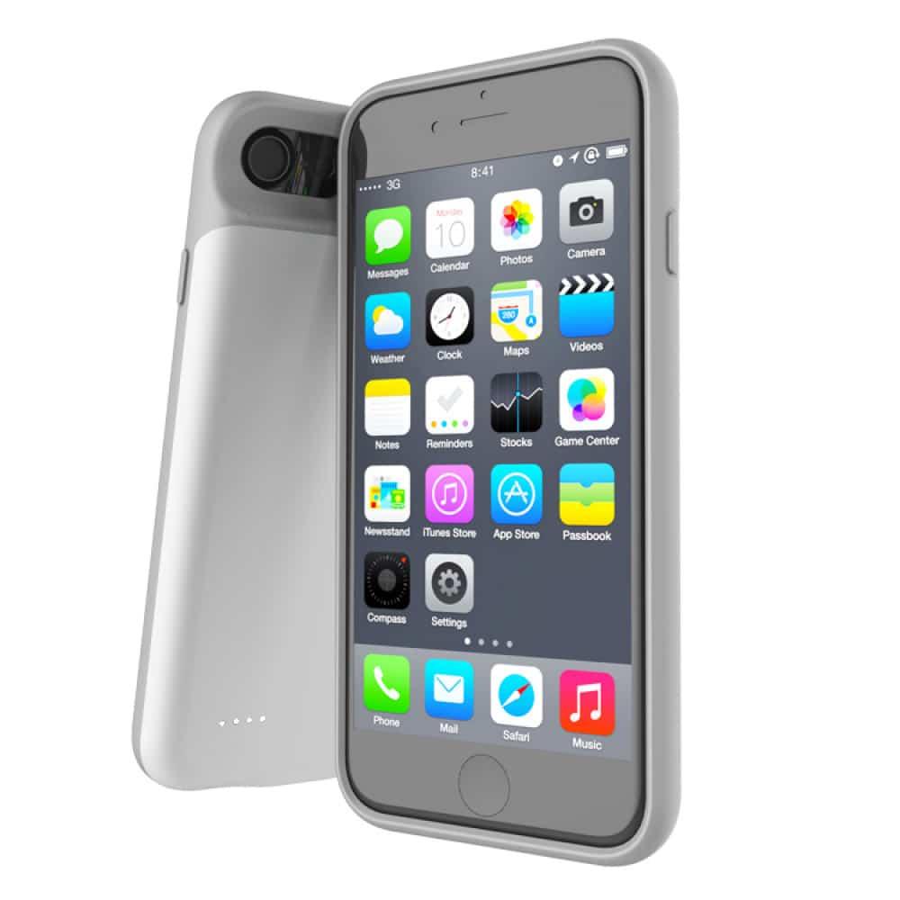 Чехол аккумулятор для iPhone 6+/6s+/7+/8 Plus 4000 mAh white