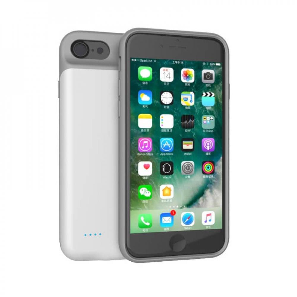 Чехол аккумулятор для iPhone 6/6s/7/8 iBattery 3000 mAh white