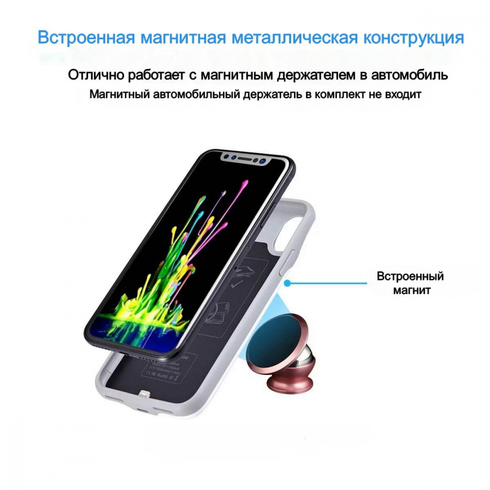 Чехол аккумулятор для iPhone Xr 4000 mAh black iBattery