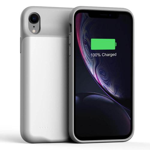 Чехол аккумулятор для iPhone Xr 4000 mAh white iBattery