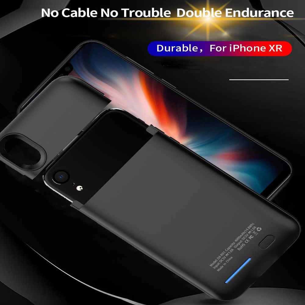 Чехол аккумулятор на iPhone Xr 4000 mAh black