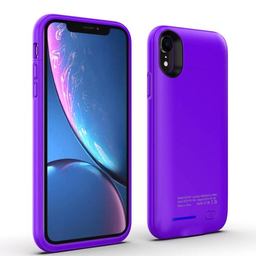 Чехол аккумулятор на iPhone Xr 4000 mAh purple