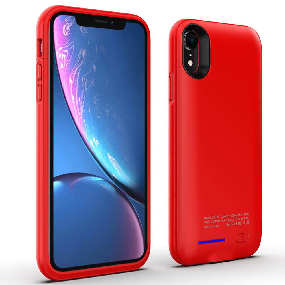 Чехол аккумулятор на iPhone Xr 4000 mAh red