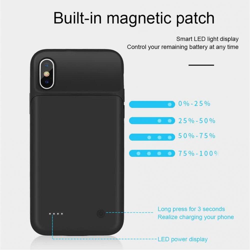 Чехол зарядка для iPhone X/XS 3200 mAh black iBattery