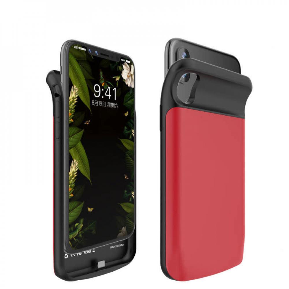 Чехол зарядка для iPhone X/XS 3200 mAh red iBattery