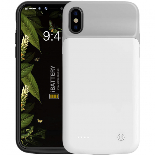 Чехол зарядка для iPhone X/XS 3200 mAh white iBattery