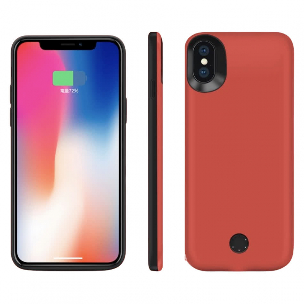 Чехол-батарея на iPhone X/XS 5000 mAh red