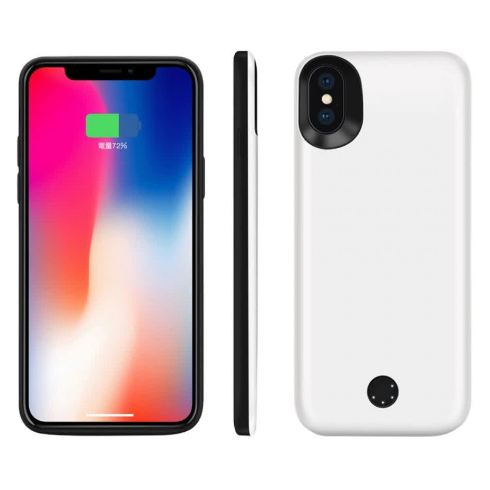Чехол-батарея на iPhone X/XS 5000 mAh white