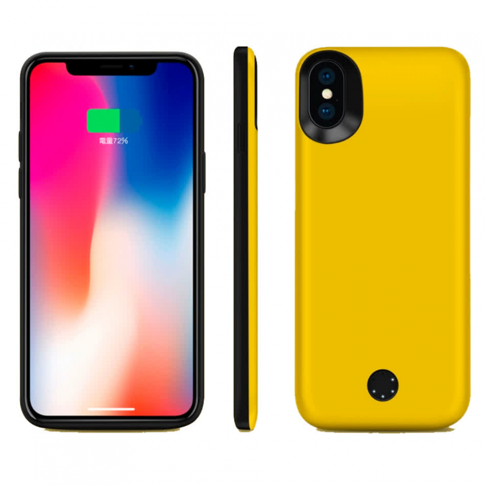 Чехол-батарея на iPhone X/XS 5000 mAh yellow