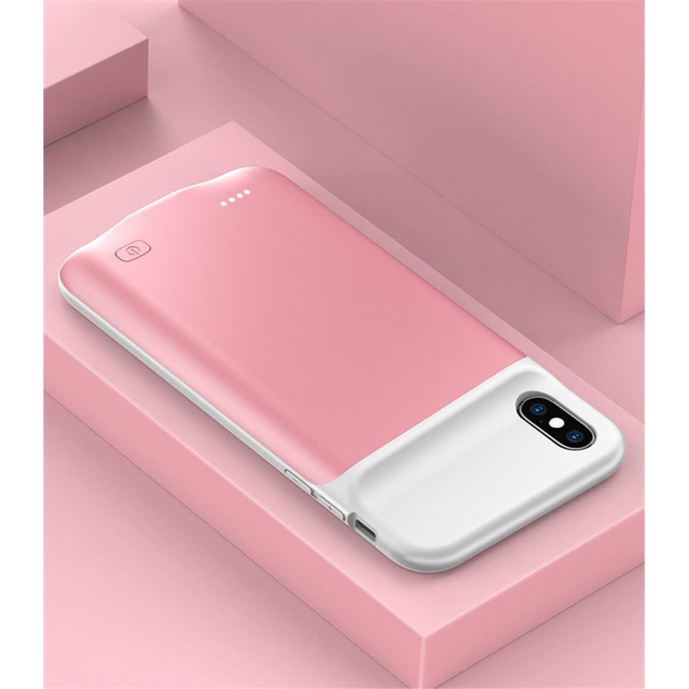 Чехол аккумулятор для iPhone X/XS 5200 mAh rose iBattery
