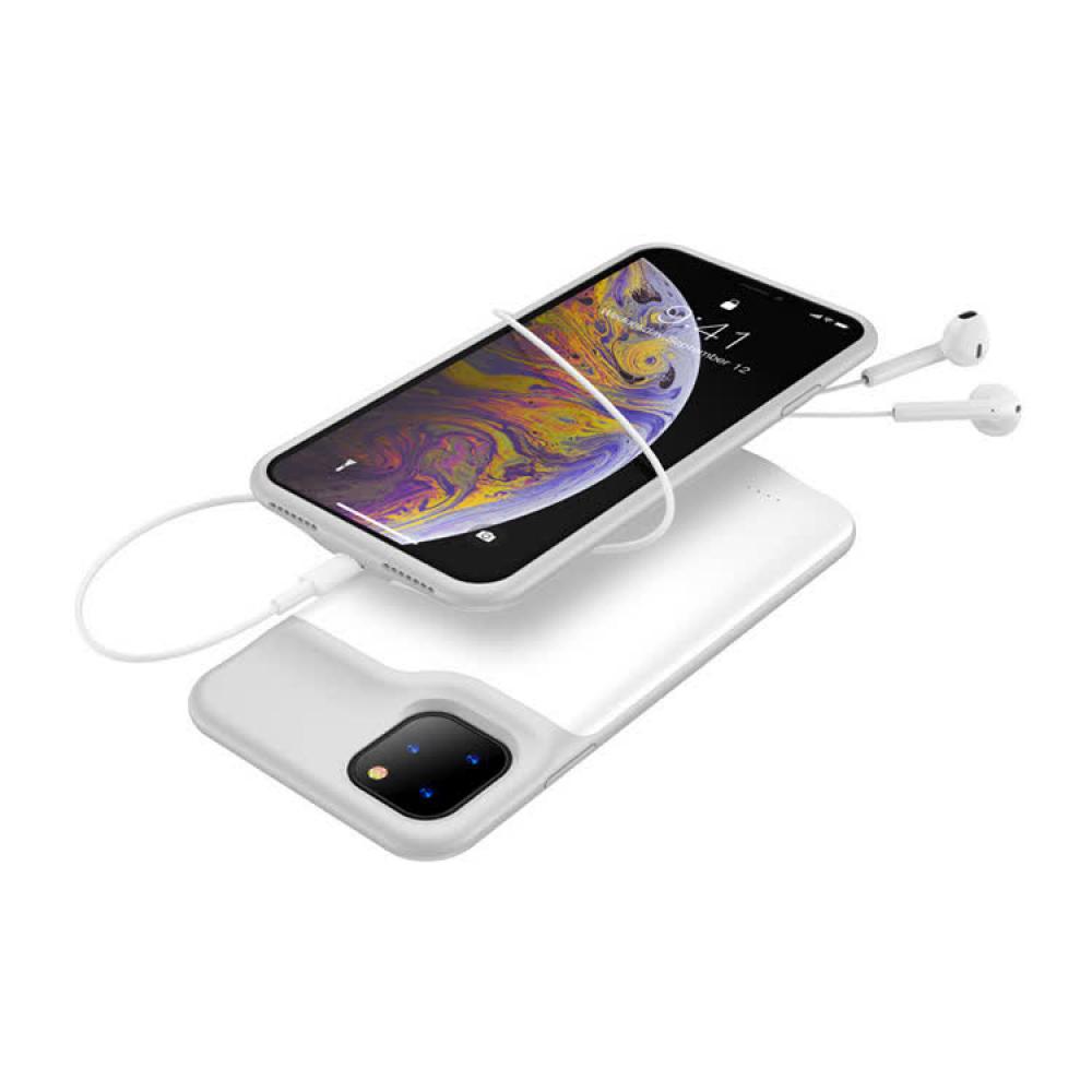 Чехол аккумулятор для iPhone X/XS 5200 mAh white iBattery