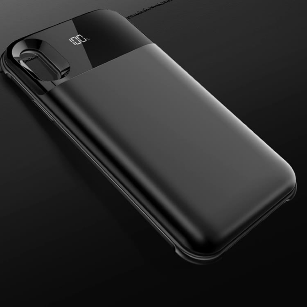 Чехол аккумулятор для iPhone X/XS 5000 mAh black: магнитный