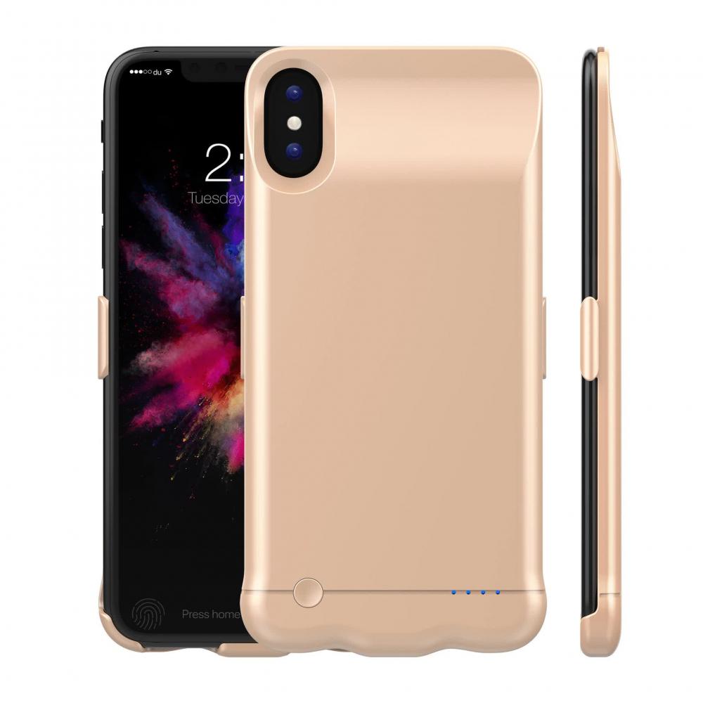 Чехол батарея для iPhone X/XS 5200 mAh gold iBattery