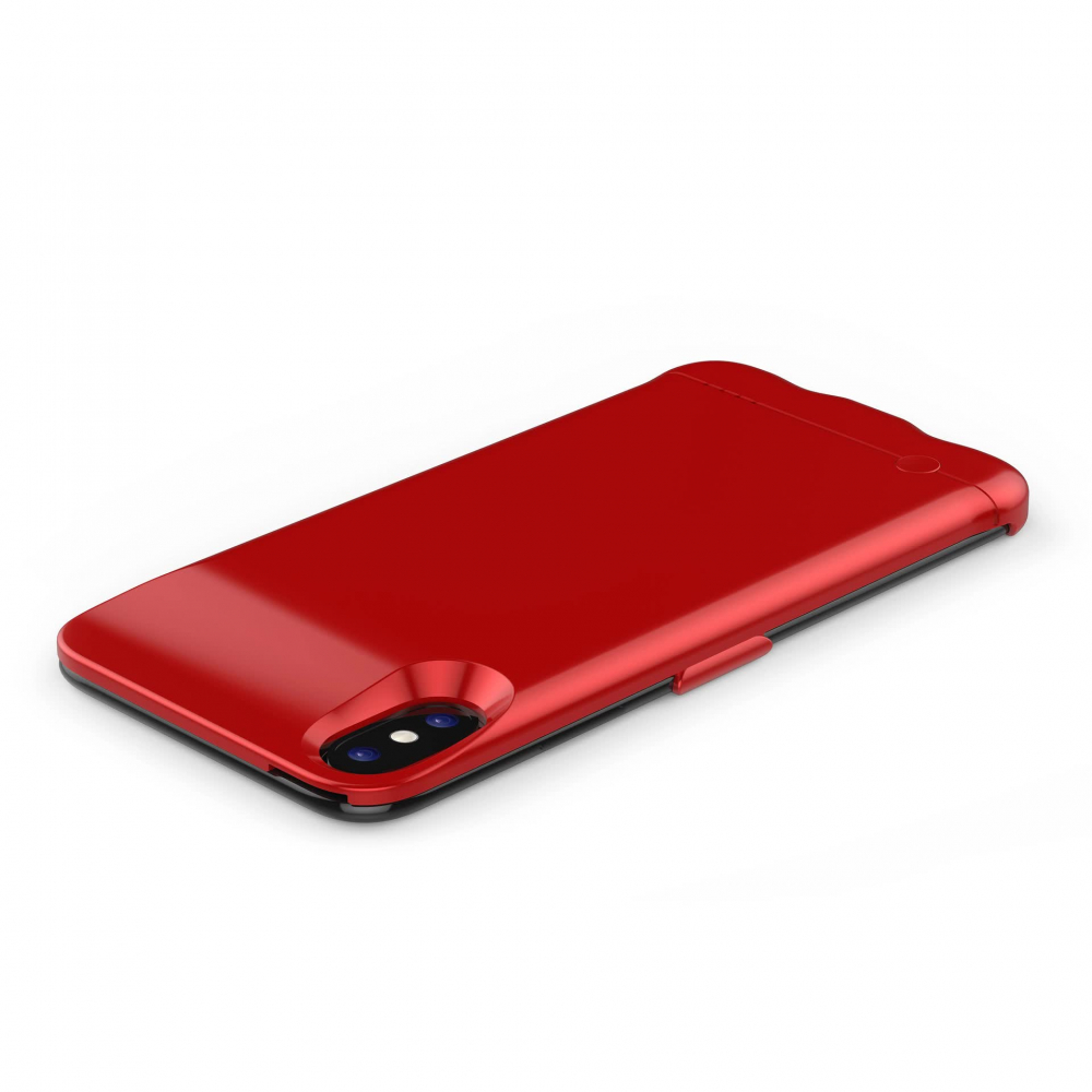 Чехол батарея для iPhone X/XS 5200 mAh red  iBattery