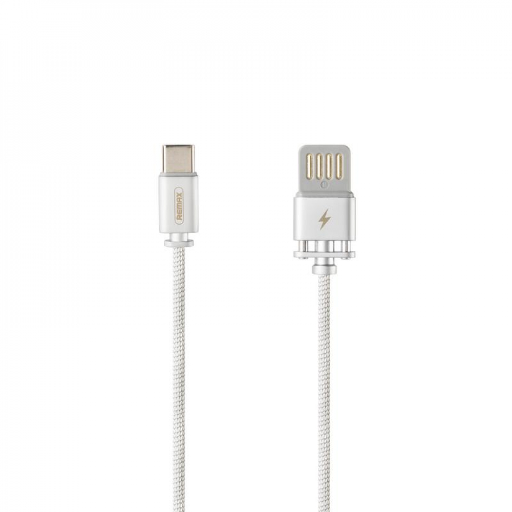 USB Cable Remax (OR) Dominator Fast Char RC-064a Type-C Silver 1m