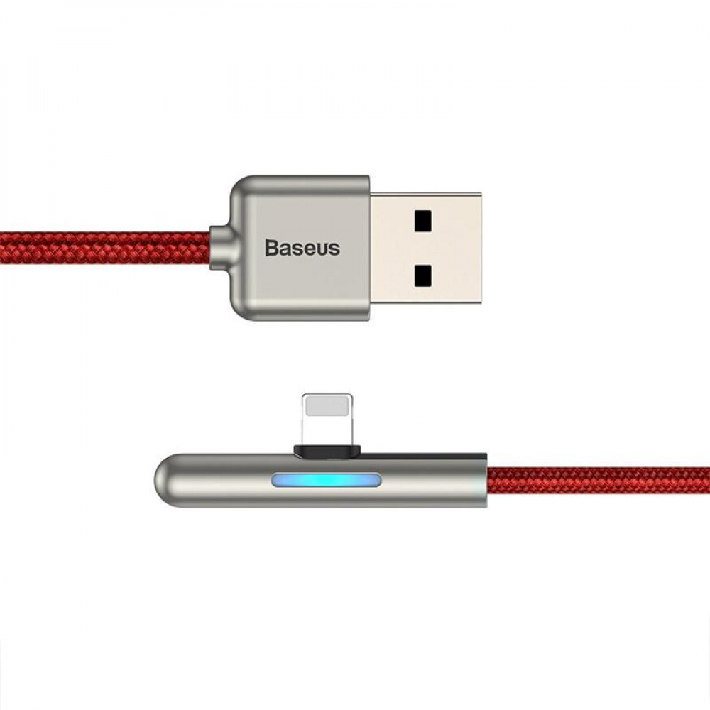 USB Cable Baseus Iridescent Lamp Mobile Game Lightning (CAL7C-A09) Red 1m