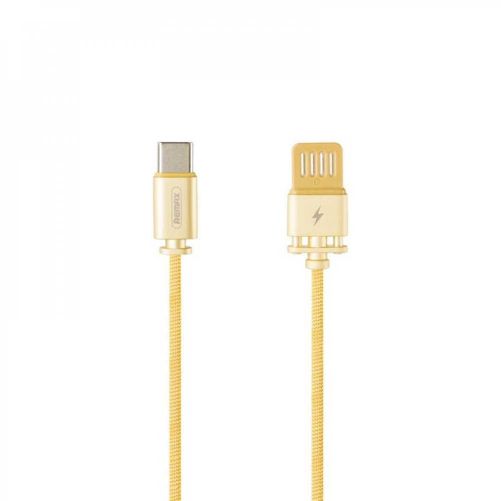 USB Cable Remax (OR) Dominator Fast Char RC-064a Type-C Gold 1m