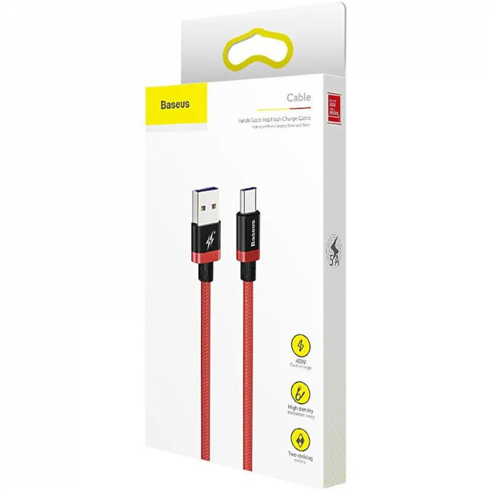USB Cable Baseus HW Flash Type-C (CATZH-B09) Red 2m