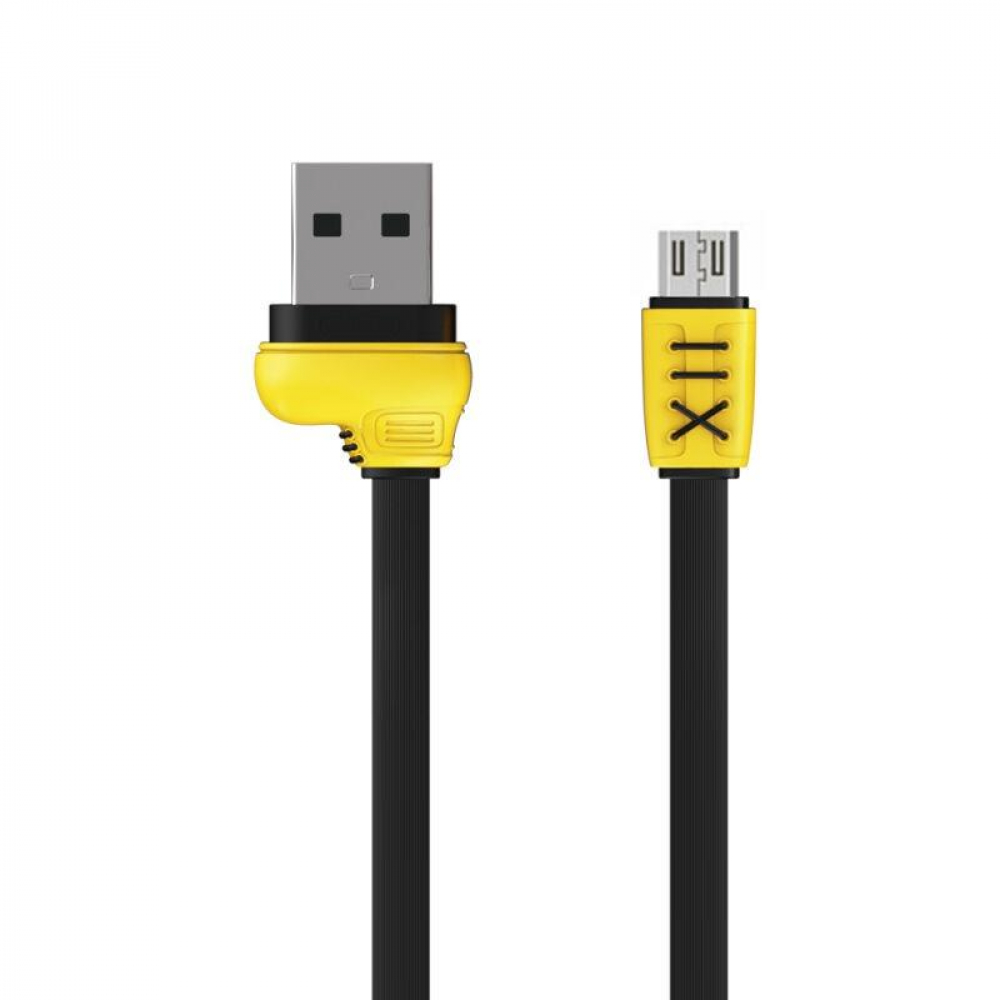 USB Cable Remax (OR) Running Shoe RC-112m MicroUSB Black 1m