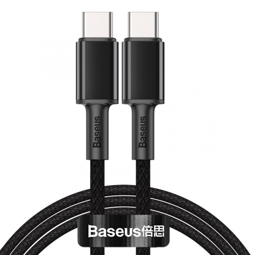 Cable Baseus High Density Braided Type-C/Type-C 100W (CATGD-A01) Black 2m