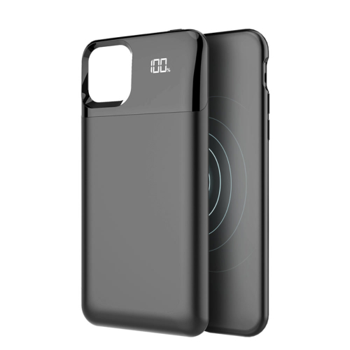 Чехол зарядка для iPhone 11 Pro Max black 5500 mAh магнитный