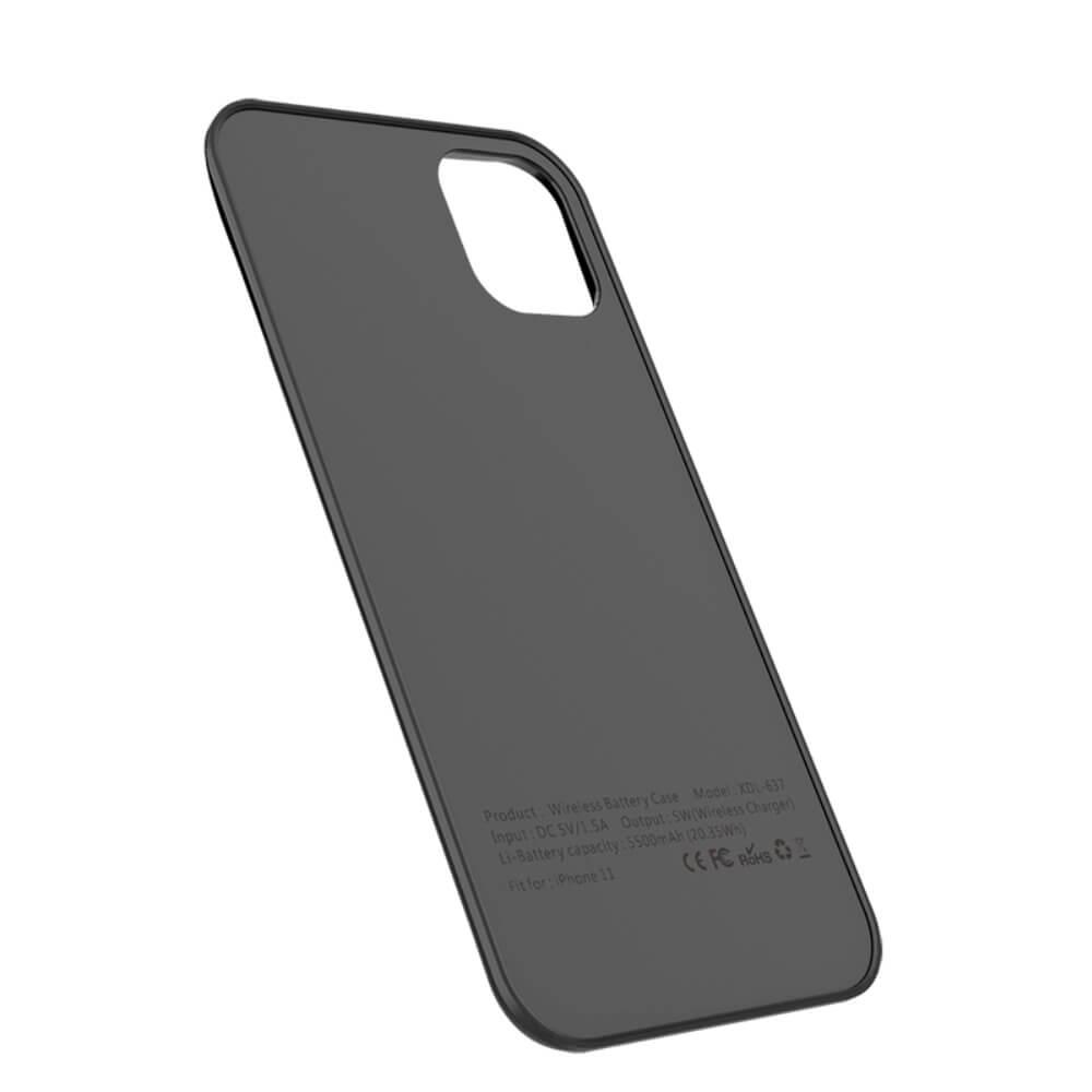 Чехол зарядка для iPhone 11 black 5500 mAh магнитный