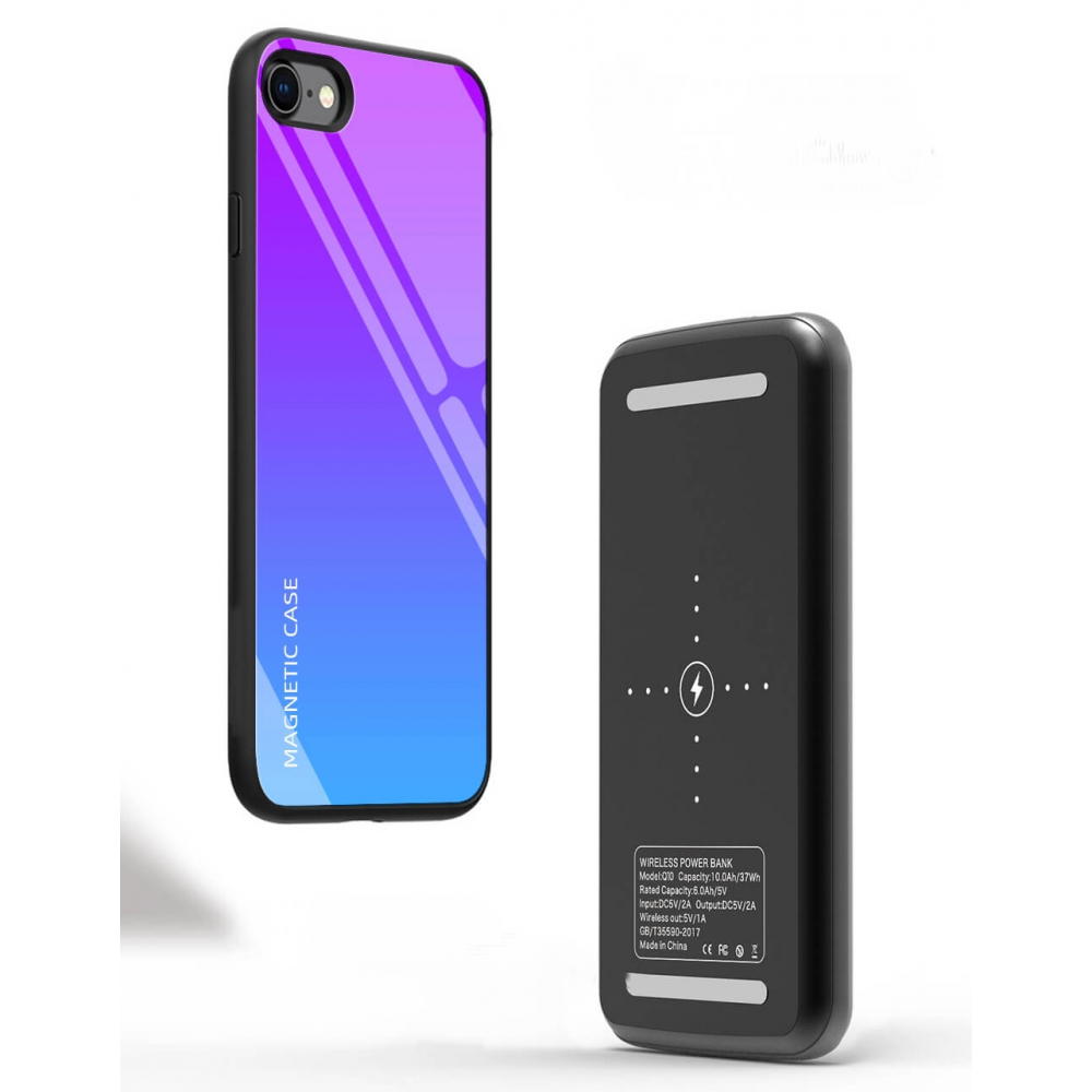 Magnet чехол зарядка для iPhone 8/SE 2020 blue 5000 mAh