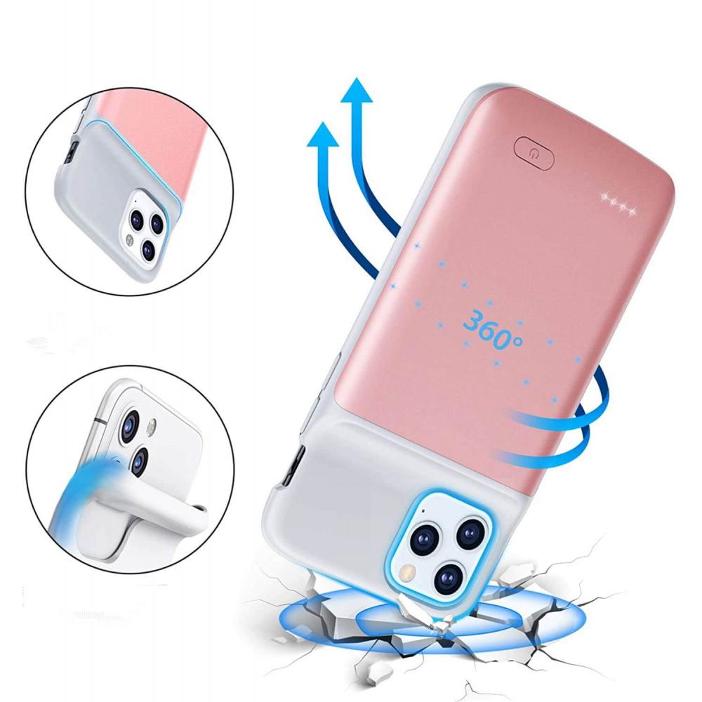 Чехол powerbank для iPhone 11 Pro Max 6500 mAh pink iBattery