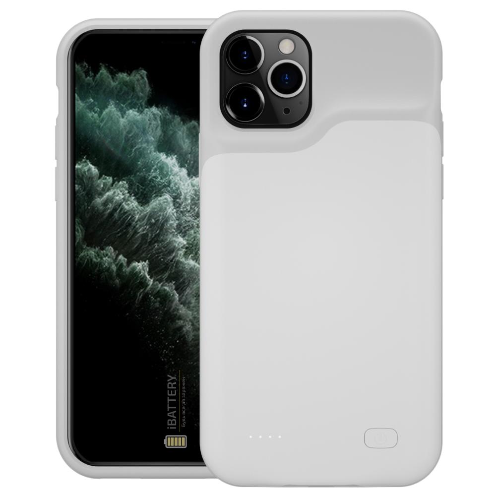 Чехол powerbank для iPhone 11 Pro Max 6500 mAh white iBattery