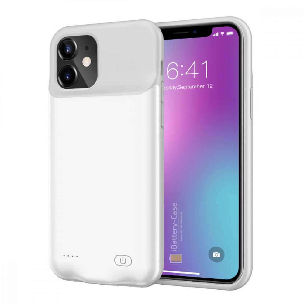 Чехол powerbank для iPhone 11 6000 mAh white iBattery