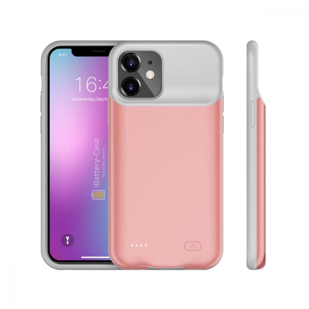 Чехол powerbank для iPhone 11 6000 mAh pink iBattery