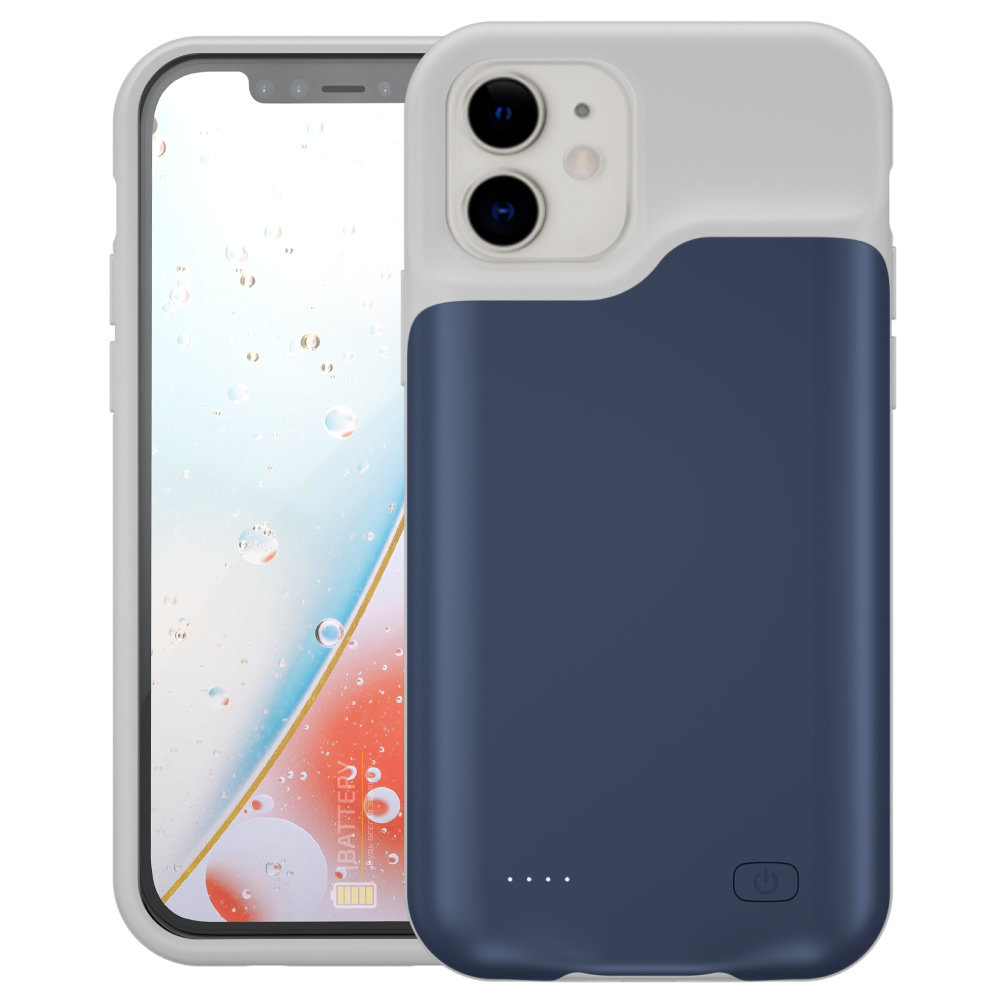 Чехол powerbank для iPhone 12 Mini 4000 mAh blue iBattery