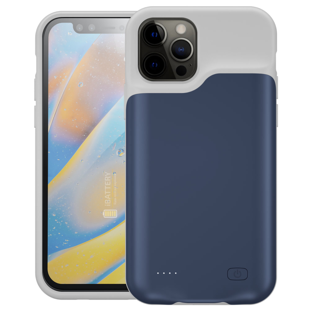 Чехол powerbank для iPhone 12 Pro Max 5000 mAh blue iBattery