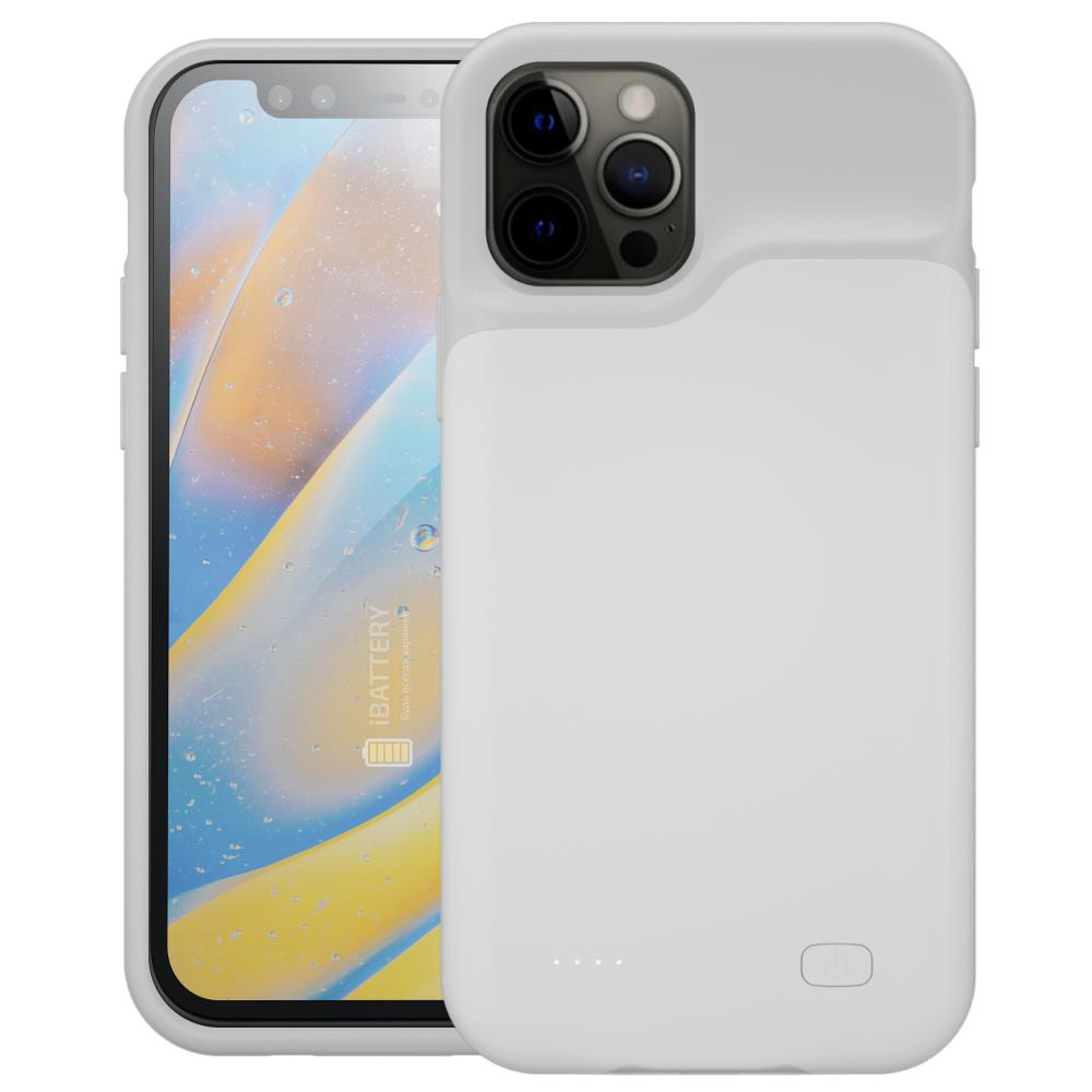 Чехол powerbank для iPhone 12 Pro Max 5000 mAh white iBattery
